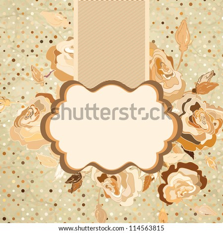 Grunge romantic flower background in vintage style. And also includes EPS 8 vector - stock vector