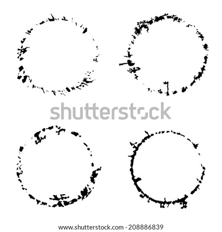 Grunge Round Traces for your design. EPS10 vector. - stock vector