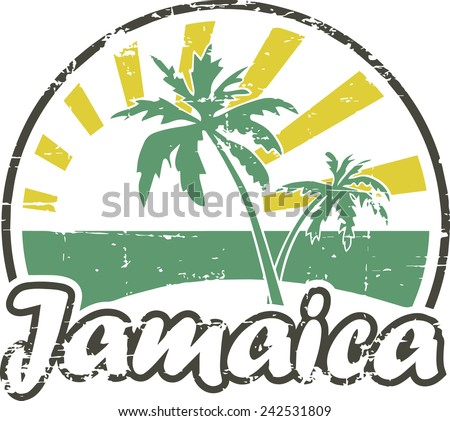 Grunge rubber stamp 'Jamaica' - stock vector
