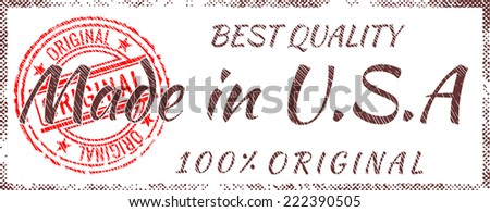 Grunge rubber stamp  Made in America - stock vector