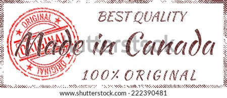 Grunge rubber stamp  Made in Canada - stock vector
