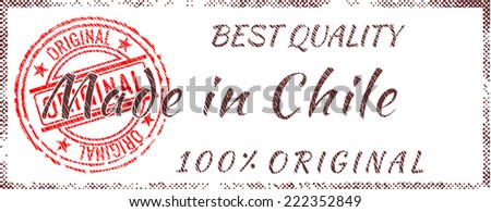 Grunge rubber stamp  Made in Chile - stock vector