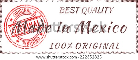 Grunge rubber stamp  Made in Mexico - stock vector