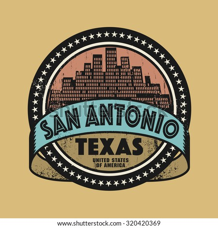 Grunge rubber stamp or label with name of San Antonio, Texas, vector illustration - stock vector