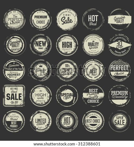 Grunge rubber stamp premium quality collection  - stock vector