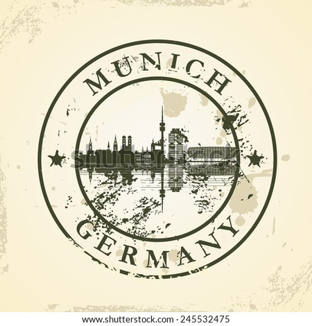 Grunge rubber stamp with Munich, Germany - vector illustration