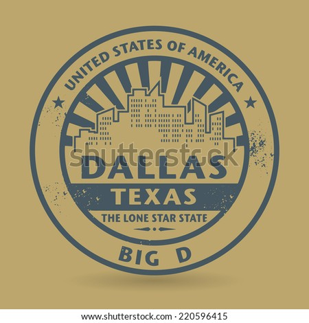 Grunge rubber stamp with name of Dallas, Texas, vector illustration - stock vector