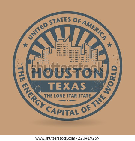 Grunge rubber stamp with name of Houston, Texas, vector illustration