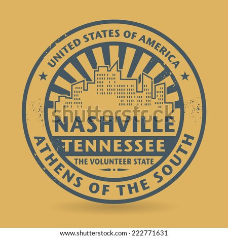 Grunge rubber stamp with name of Nashville, Tennessee, vector illustration - stock vector
