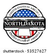 Grunge rubber stamp with name of North Dakota, vector illustration - stock photo