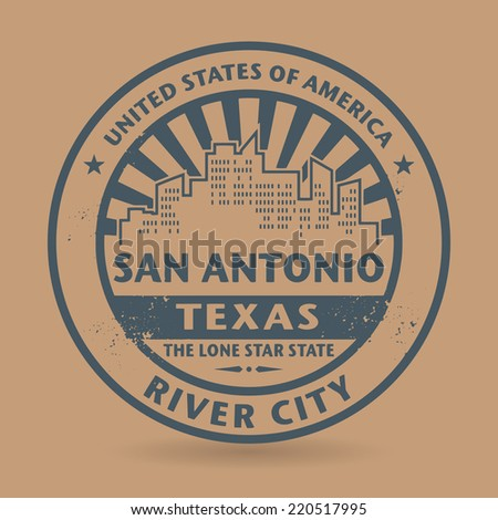 Grunge rubber stamp with name of San Antonio, Texas, vector illustration