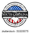 Grunge rubber stamp with name of South Carolina, vector illustration - stock photo