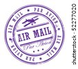 Grunge rubber stamp with small stars and the word Air Mail inside, vector illustration - stock vector