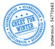Grunge rubber stamp with small stars and the word Great for Winter inside, vector illustration - stock photo