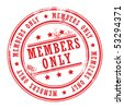 Grunge rubber stamp with small stars and the word Members Only inside, vector illustration - stock photo