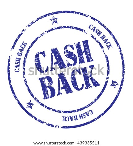 "grunge rubber stamp with text ""cash back"" on white, vector illustration"