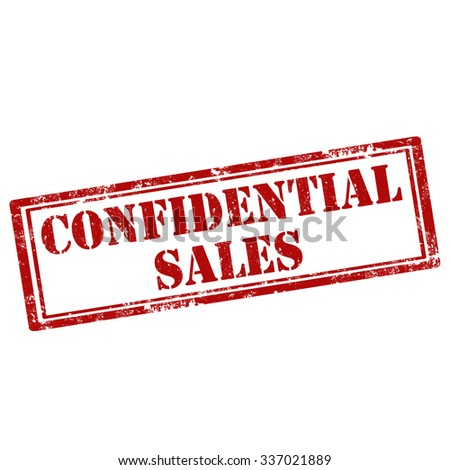 Grunge rubber stamp with text Confidential Sales,vector illustration - stock vector