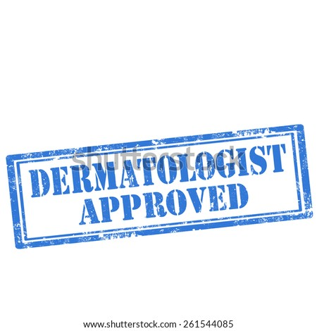 Grunge rubber stamp with text Dermatologist Approved,vector illustration - stock vector