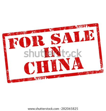 Grunge rubber stamp with text For Sale In China,vector illustration - stock vector