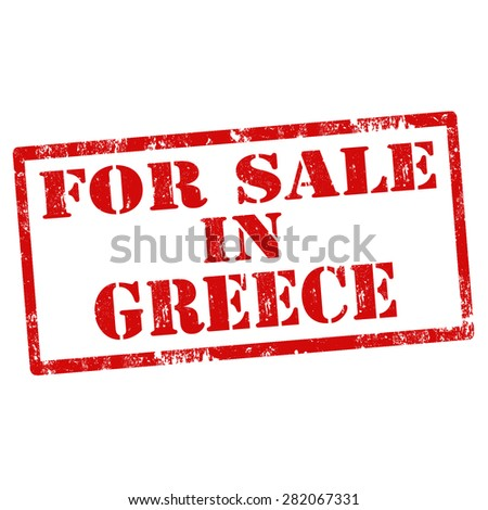 Grunge rubber stamp with text For Sale In Greece,vector illustration - stock vector