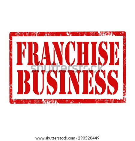 Grunge rubber stamp with text Franchise Business,vector illustration - stock vector