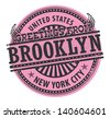 Grunge rubber stamp with text Greetings from Brooklyn, New York City, vector illustration - stock vector