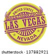 Grunge rubber stamp with text Greetings from Las Vegas, Nevada, vector illustration - stock vector