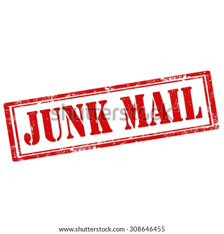 Grunge rubber stamp with text Junk Mail,vector illustration - stock vector