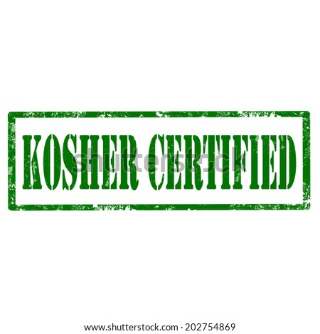 Grunge rubber stamp with text Kosher Certified,vector illustration