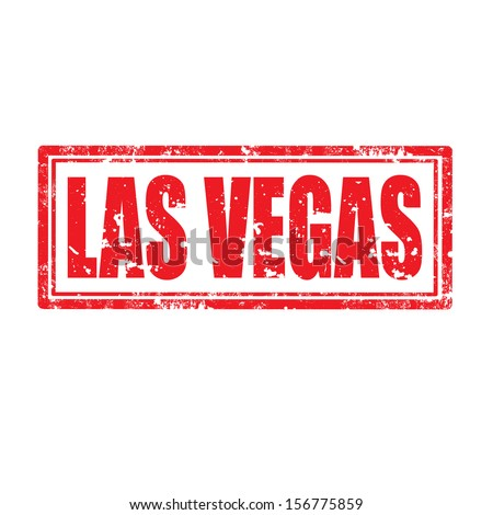 Grunge rubber stamp with text Las Vegas,vector illustration - stock vector