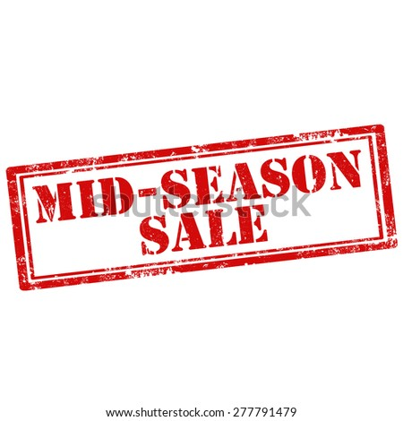Grunge rubber stamp with text Mid-Season Sale,vector illustration - stock vector