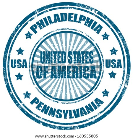 Grunge rubber stamp with text Philadelphia-Pennsylvania,vector illustration