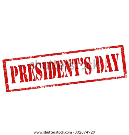Grunge rubber stamp with text President's Day,vector illustration - stock vector