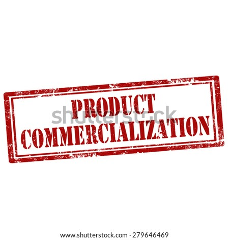 Grunge rubber stamp with text Product Commercialization,vector illustration - stock vector
