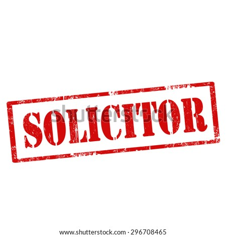 Grunge rubber stamp with text Solicitor,vector illustration - stock vector