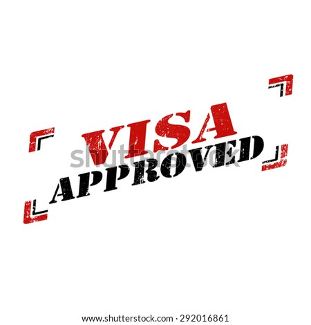 Grunge rubber stamp with text Visa Approved,vector illustration - stock vector