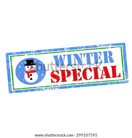 Grunge rubber stamp with text Winter Special,vector illustration - stock vector