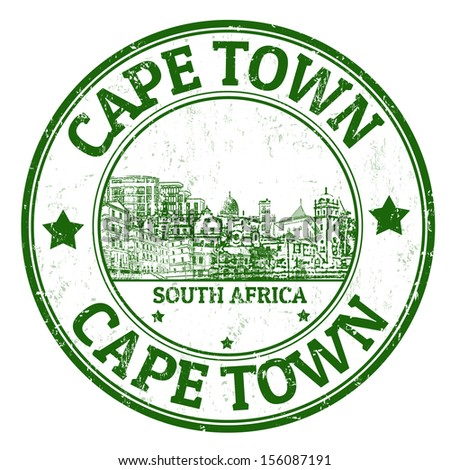 Grunge rubber stamp with the name of Cape Town, a city from South Africa written inside, vector illustration