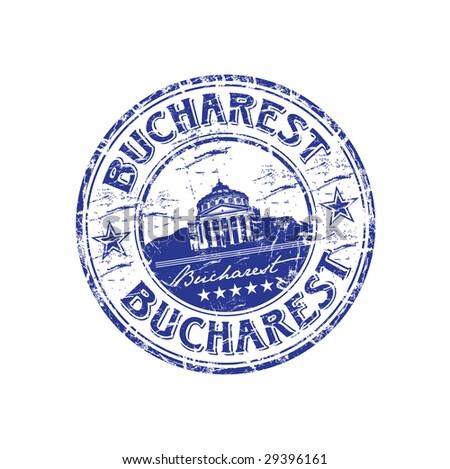 Grunge Rubber Stamp With The Name Of Capital Romania Written Inside Bucharest