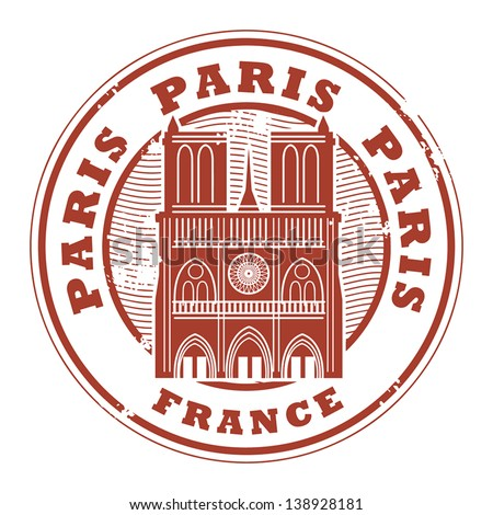 Grunge rubber stamp with the name of Paris, France written inside the stamp, vector illustration