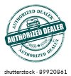 Grunge rubber stamp with the text authorized dealer written inside the stamp, vector illustration - stock photo