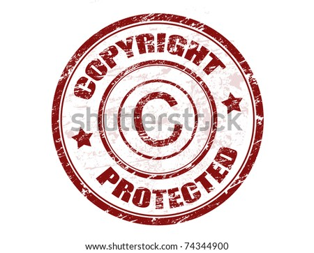Grunge rubber stamp with the text copyright protected written inside the stamp - stock vector