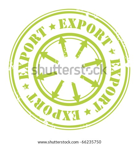 Grunge rubber stamp with the text Export written inside the stamp, vector illustration - stock vector