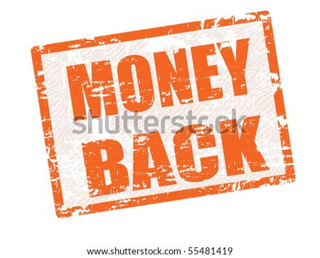 Grunge rubber stamp with the text Money Back inside, vector illustration - stock vector