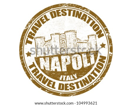 Grunge rubber stamp with the text travel destinations Napoli inside, vector illustration
