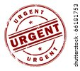 Grunge rubber stamp with the text Urgent written inside the stamp, vector illustration - stock photo