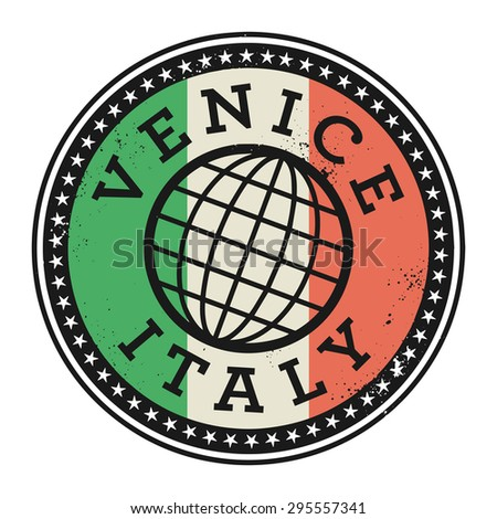 Grunge rubber stamp with the text Venice, Italy, vector illustration - stock vector