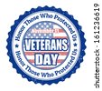 Grunge rubber stamp with the text Veterans Day written inside, vector illustration - stock vector