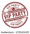 Grunge rubber stamp with the text Vip Party written inside the stamp, vector illustration - stock vector