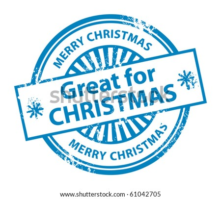 Grunge rubber stamp with the word Great for Christmas inside, vector illustration - stock vector